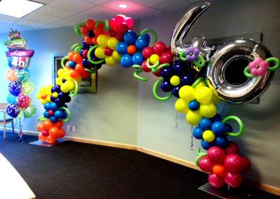 Balloon Arch Flowers 40 Birthday