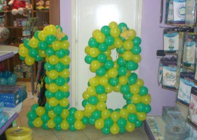Palloncini Lettere e Numeri 36