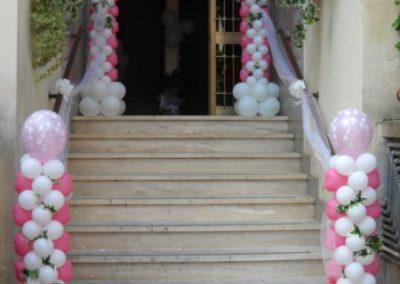 arco di palloncini matrimonio rosa [800x600]