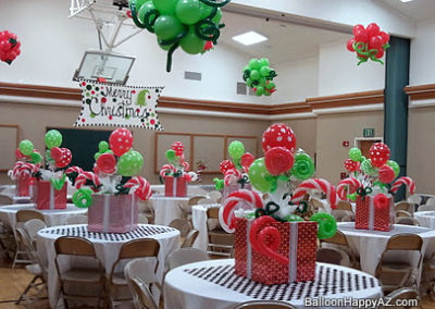 Christmas party balloon decor room