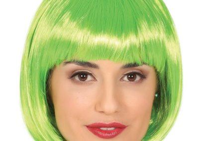 parrucca-lovely-verde-neon-a-caschetto-per-travestimenti-di-carnevale-spettacoli-e-party-vari-no-accessori